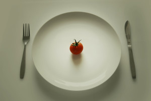 tomato on plate soft edges